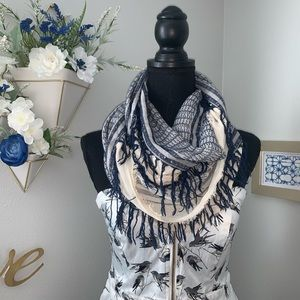 Accessories - Infiniti scarf with fringe, like new.